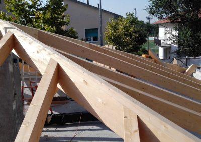 Rifacimento tetto in legno